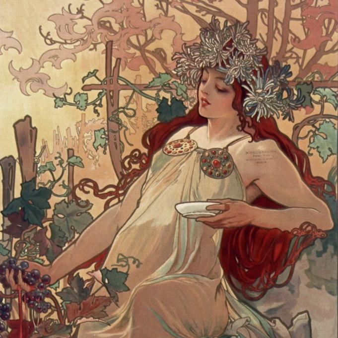 Alphonse Mucha Les saisons (l'automne) 1896 (BNF)